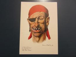 Carte Postale Les Corsaires Etienne Blandin Laurent HERVE Dit Bréchues Dents - Otros Ilustradores