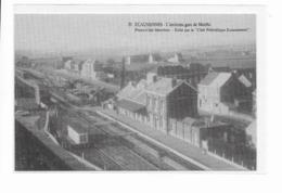 Ecaussinnes  Ancienne  Gare  De  Marche  Vu  De  L'intérieur ( Quai Et Rails ) - Ecaussinnes