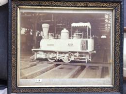 Rare Photographie 24 X33 De 1876 - Locomotive 020 LilleFives de Manutentions Commande Quissaman Cadre D'époque. - Anciennes (Av. 1900)