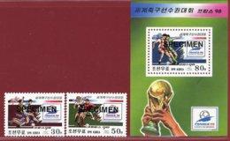 Korea 1998, SC #3710-12, 2V+S/S, Specimen, France World Cup, Football - 1998 – Frankreich