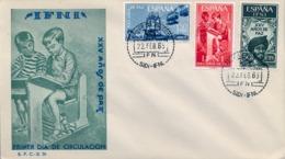 1965 IFNI , SOBRE DE PRIMER DIA  , ED. 209 / 211 , XXV AÑOS DE PAZ - Ifni