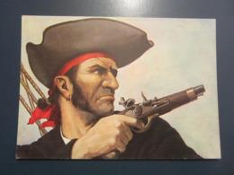Carte Postale Les Corsaires Etienne Blandin Dominique Leroy Dit Le Corsaire Au Pistolet - Andere Zeichner
