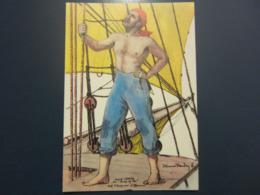 Carte Postale Les Corsaires Etienne Blandin Marcel Lemée Dit Bras De Fer - Andere Zeichner