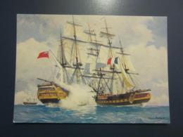 Carte Postale Les Corsaires Etienne Blandin Combat De Frégate La Minerve Contre Le Windham - Andere Zeichner