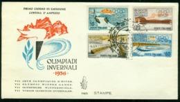 Fd Italy FDC 1956 MiNr 958-961 | Seventh Winter Olympic Games, Cortina D'Ampezzo - 6. 1946-.. Republic