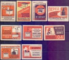 RussiaMatchbox Labels 1961, Safety Technique. Gas 9V. - Zündholzschachteln