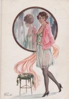 Dame  Au Miroir.  Scan - Other Illustrators