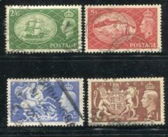 Grossbritanien / 1951 / Mi. 251-254 O (1498) - 1902-1951 (Könige)