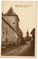 My-lez-Hamoir - Entrée De La Ferme Du Château Et Clocher De L'Eglise - 1938 - Edit. Luma - 2 Scans - Hamoir