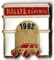 RALLYE CEVENOL 1992 - R16 - Verso : SM - Rally