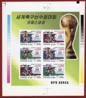 Korea 1998 SC #3711a, M/S, Printer's Proof, France World Cup, Football - 1998 – Frankreich
