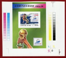 Korea 1998 SC #3712, S/S, Printer's Proof, France World Cup, Football - 1998 – Frankreich