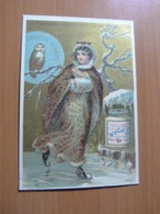 Chromo Liebig. Femme En Patin En Glace - Liebig