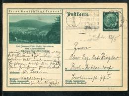 """Deutsches Reich / 1934 / Bildpostkarte """"BAD ILMENAU (Thuer.Wald)"""" Masch.-Stempel Magdeburg (1528) - Ganzsachen"""