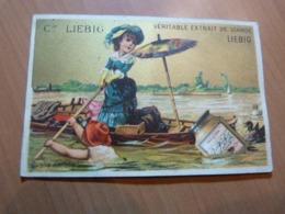 Chromo Liebig. Petite Fille Sur Une Barque - Liebig