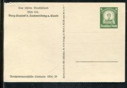 """Deutsches Reich / 1934 / Sonderpostkarte Mi. P 254 Bild 164 """"BURG SAALECK HAMMELBURG A. SAALE"""" ** (1537) - Germany"""