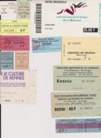 Lot 13 Tickets Visites Musée, Théâtre, Festivals Etc... Région BRETAGNE - Tickets - Entradas