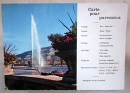 Genève Carte Pour  Paresseux  Jet D'eau SVIZZERA Cartolina  Viaggiata 1970 - GE Ginevra
