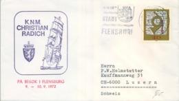 ALEMANIA , CORREO MARÍTIMO , SEA MAIL , SCHIFF POST , 1972 , K.N.M. CHRISTIAN RADICH , FLENSBURG - Barcos