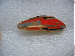 Pin's D'un TGV De Couleur Orange - TGV