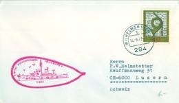 """ALEMANIA , CORREO MARÍTIMO , SEA MAIL , SCHIFF POST , 1972 , KLEINER HAFENSCHLEPPER """" BLAUORT """" - Barcos"""