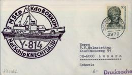 ALEMANIA , CORREO MARÍTIMO , SEA MAIL , SCHIFF POST , 1972 , BORKUM , HAFSCHIP KNECHTSAND - Barcos