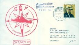 "1972 , ALEMANIA , CORREO MARÍTIMO , SEA MAIL , SCHIFF POST , 1972 , WILHELMSHAVEN , ZERSTÖRER "" HESSEN "" - Barcos"