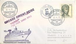 "1972 , ALEMANIA , CORREO MARÍTIMO , SEA MAIL , SCHIFF POST , 1972 , GROSSE ORIENT - REISE , PAQUEBOT "" PAGO PAGO "" SAMOA - Barcos"