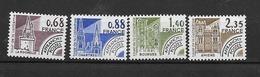 Préoblitérés; N°162/165**(Monuments Historiques) Cote 3,50€ (sans Charnière) - Préoblitérés