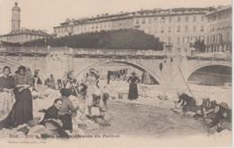 CPA Précurseur Nice - Les Blanchisseuses Du Paillon (très Belle Animation) - Petits Métiers