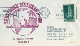 "1972 , ALEMANIA , CORREO MARÍTIMO , SEA MAIL , SCHIFF POST , 1972 , KIEL , ZERSTÖRER "" MÖLDERS D - 186 "" - Barcos"