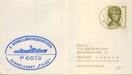 "1972 , ALEMANIA , CORREO MARÍTIMO , SEA MAIL , SCHIFF POST , 1972 , SCHNELLBOOT "" FALKE "" - Barcos"