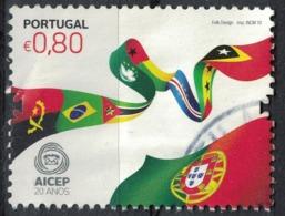 Portugal 2010 Oblitéré Used Drapeaux AICEP Portugal Global Investissements SU - 1910-... Republiek