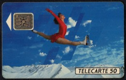 FRANCE - OLYMPIC WINTER GAMES ALBERTVILLE 1992 - FIGURE SKATING - FRANCE TELECOM - TELECARTE 50 - USED - Olympic Games