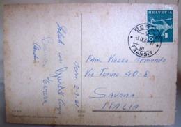 1961 SVIZZERA Annullo BERN 2 TRANSIT Storia Postale Su Cartolina - Switzerland