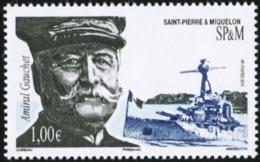SAINT PIERRE AND MIQUELON SPM 2015 Admiral Gauchet World War I Famous People MNH - Famous People