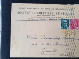 SAINT LO - 6 Janvier 1947 - 5f Au Lieu De 4f50 - MANCHE - Gandon YT 713 716 - Marcophilie (Lettres)