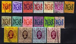 Hong Kong 1982 QE2 Set 17 Used Stamp To $50 SG 415 - 430 ( K1309 ) - Hong Kong (...-1997)