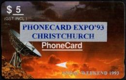NEW ZEALAND - PHONECARD EXPO '93 CHRISTCHURCH - ANZAC WEEKEND 1993 - USED - Neuseeland