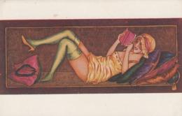 CPA Femme Lady Glamour Girl Donna Fräu Bas Lecture Paresseuse Llustrateur X. SAGER Série 93 (2 Scans) - Sager, Xavier