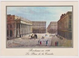 33 - Bordeaux En 1836 - La Place De La Comédie, Le Grand Théâtre .... - Vieilles Gravures  - Ed. L. CHATAGNEAU N 4861 - Bordeaux