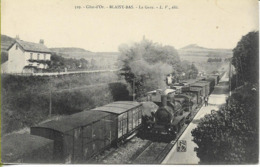 BLAISY-BAS La Gare (locomotive PLM 040 N° 3224 En Tête D'un Train De Marchandises) - Francia