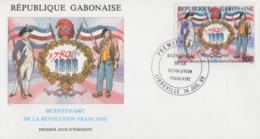 Enveloppe  FDC  1er  Jour   GABON    Bicentenaire  De  La   REVOLUTION   FRANCAISE    1989 - Franz. Revolution