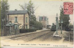 MOUY La Gare Vue Sur Les Quais  (arrivée D'un Train) - Mouy