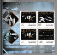 E 117) BRD 2017 Mi 3307-3309 Zusammendruck **: Für Den Sport, Schwimmen Fechten Rudern - Briefmarken