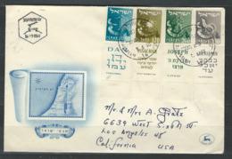 MZ-/-069-   BELLE LETTRE  F.D.C.  De 1956, 4  TIMBRES Avec TABS - VOIR LES SCANS  , Liquidation - FDC