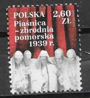 POLAND, 2019, MNH, WWII, POMERANIAN CRIME, MASSACRES IN PIASNICA, 1v - 2. Weltkrieg