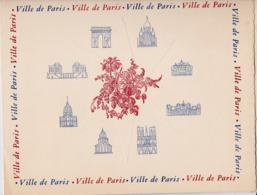 PLAQUETTE VILLE DE PARIS ACCUEIL DE PARIS GRAVURE SUR CUIVRE ORIGINALES DE DECARIS PLACE DE LA CONCORDE ANNEE 1948 - France