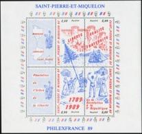 SAINT PIERRE AND MIQUELON SPM 1989 Philexfrance 89 Stamp Exhibition Bicentenary Of The French Revolution Ship Ships MNH - Franz. Revolution