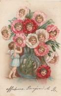 CPA Lithographiée Surréalisme Bébé Baby Fleur Flower Ange Angelot Illustrateur (2 Scans) - Illustrateurs & Photographes